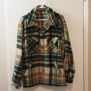 Mens Eddie Bauer wool plaid jacket size XL